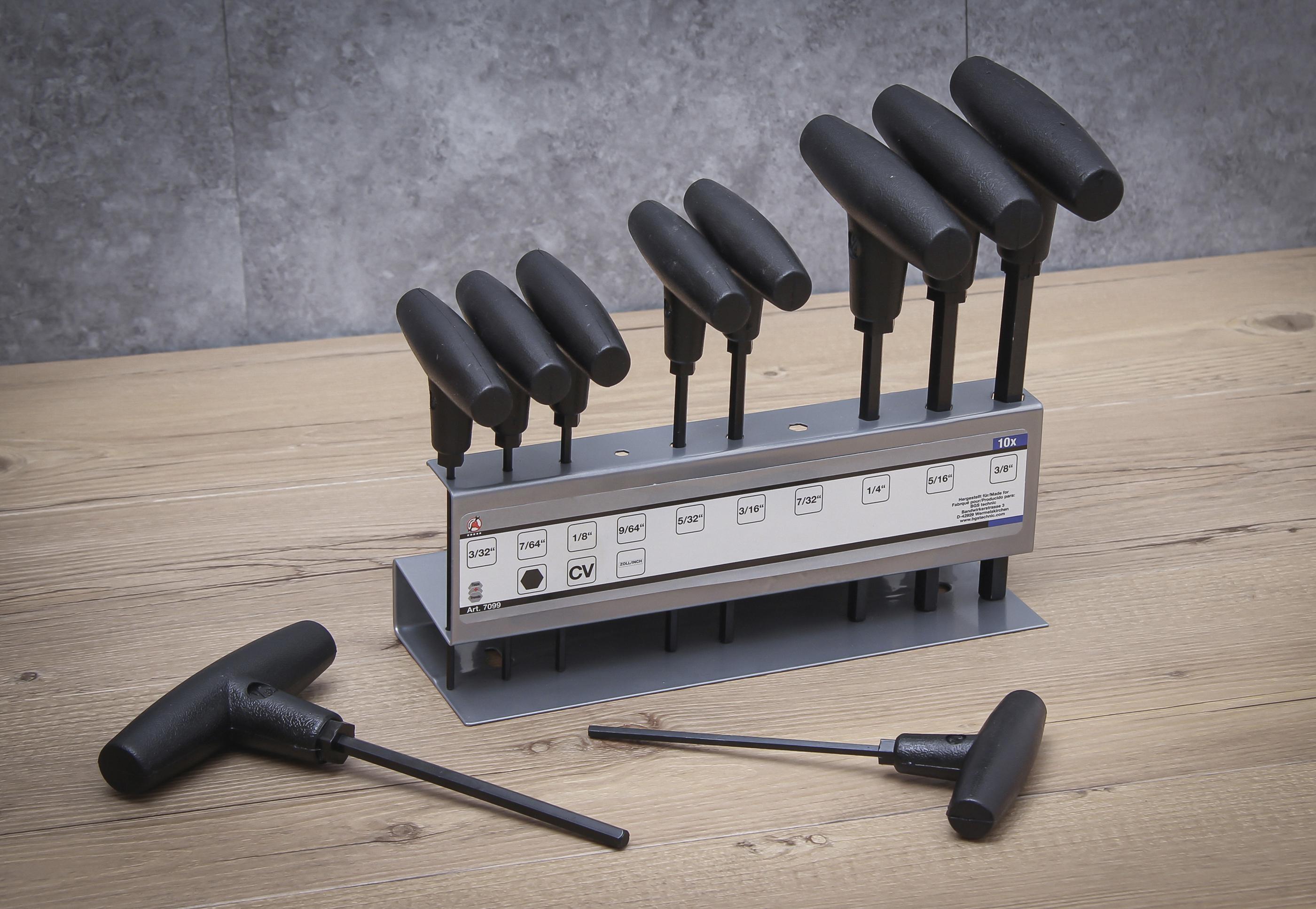 T-Handle Screwdriver Set | Inch Sizes | internal Hexagon 3/32